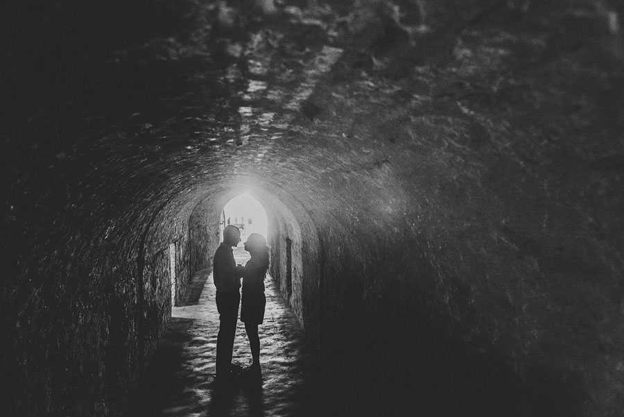 engagement in tunnel