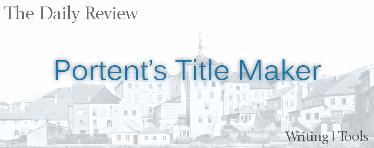 Portent Title Maker site review header
